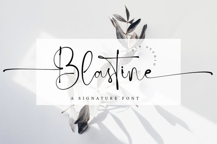 Thumbnail for Blastine-Beautiful Signature Font