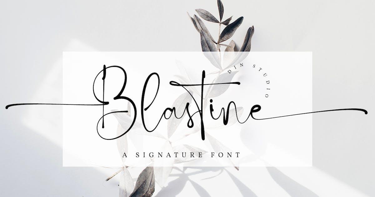 Download Blastine-Beautiful Signature Font by Din-Studio