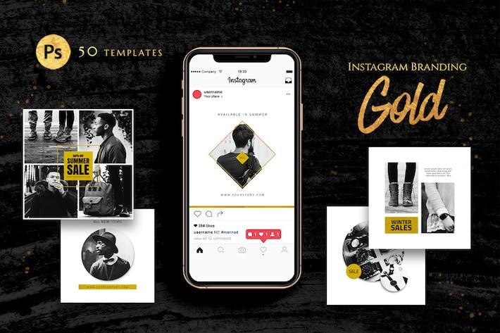 Thumbnail for Instagram Branding Gold Template