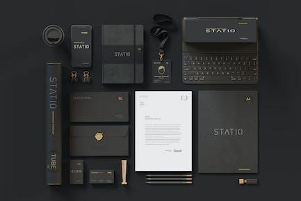 STATIO: Stationary Entreprise Mockup Black Edition