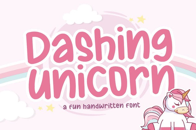 Dashing Unicorn YH - Modern Display Font - product preview 0