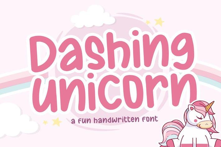 Thumbnail for Dashing Unicorn YH - Fuente de pantalla moderna