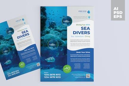 Diving Course Flyer Design