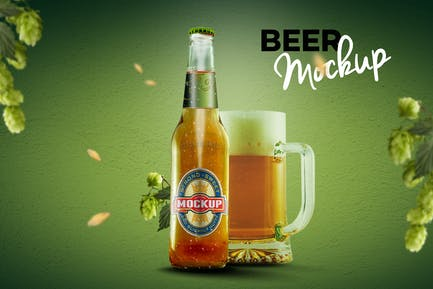 Bierflasche Mockup