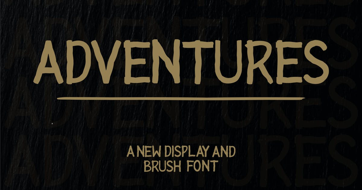 Download Adventures Dislay Font by blunesia