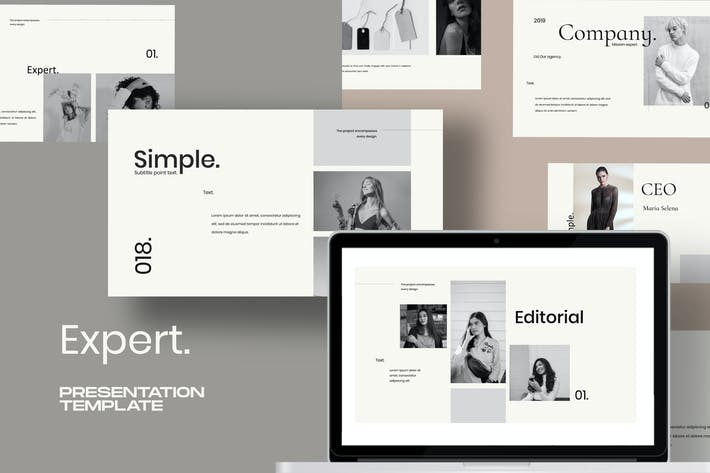 Expert - Google Slide Creative minimal agency
