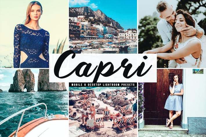 Thumbnail for Capri Mobile & Desktop Lightroom Presets