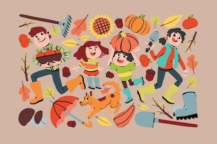 Festliche Herbst-Clipart