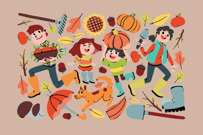 Thumbnail for Festive Fall Clipart