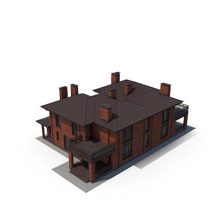 Villa Contemporary Brick House
