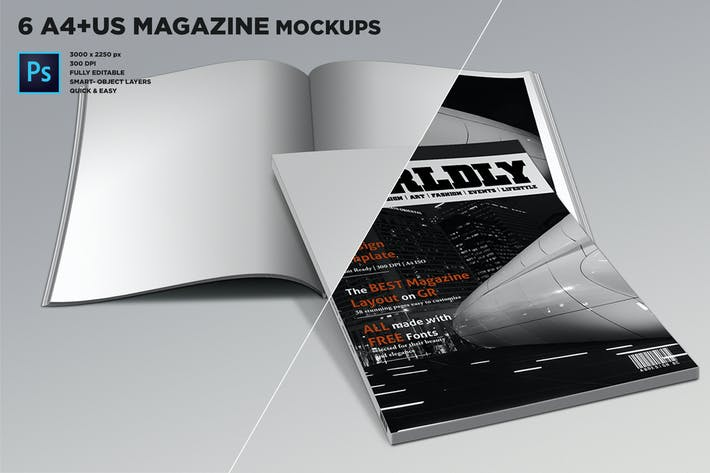 Thumbnail for Magazine Mockups