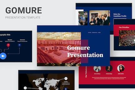 Gomure - Political Candidates Google Slides