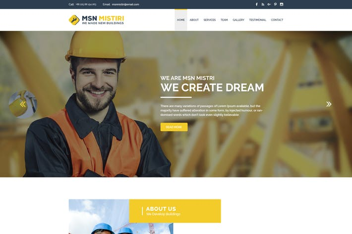 Thumbnail for MSN Mistiri - Construction PSD Template
