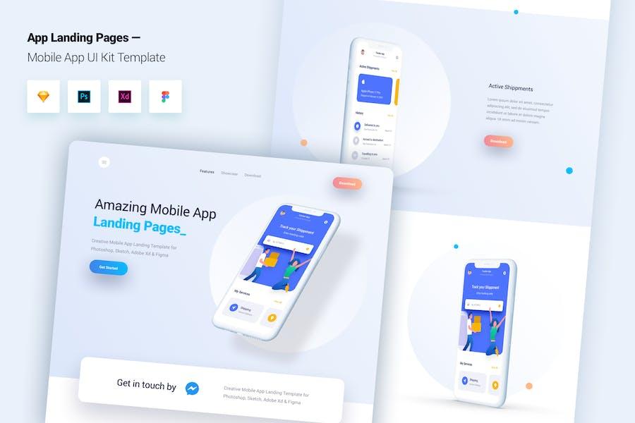Mobile App Landing Page Template UI Kit