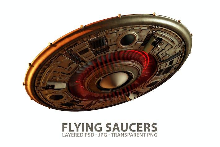 Schweben UFO fliegende Untertassen