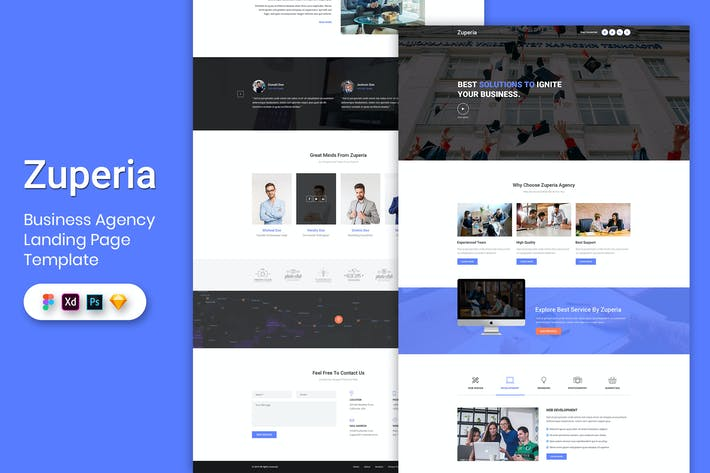 Thumbnail for Business Agency - Landing Page Template