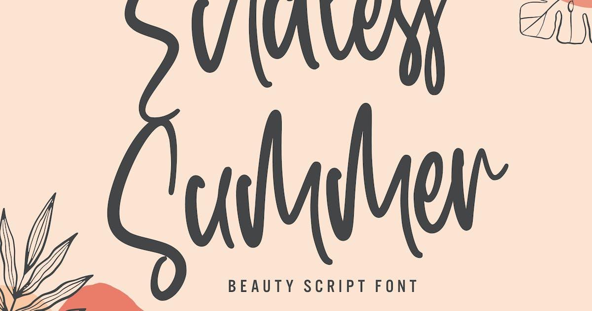 Download Endless Summer - Beauty Script Font by arendxstudio