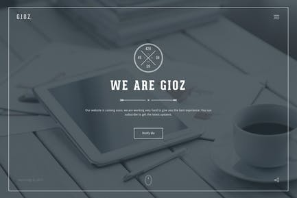 Gioz — Coming Soon & Maintenance Mode Template