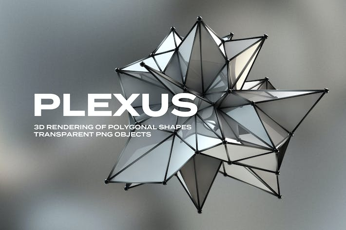 Thumbnail for 3D Plexus Structure Transparent PNG Objects
