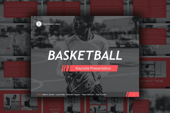 Cover Image For Basketball Keynote Template