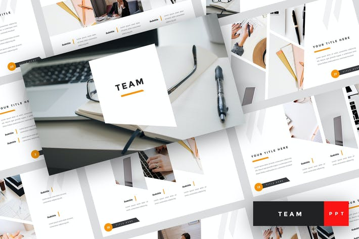 Thumbnail for Team - Business PowerPoint Template