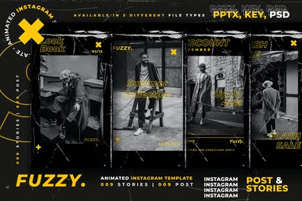 Fuzzy - Animated Instagram Template