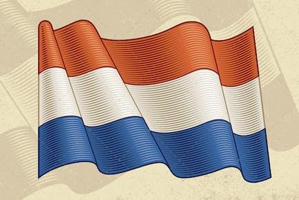 Vintage Flag Of Netherlands
