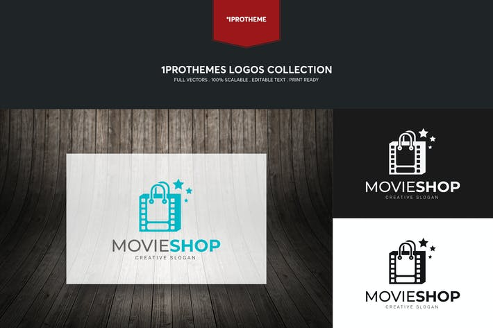 Thumbnail for Movie Shop Logo Template