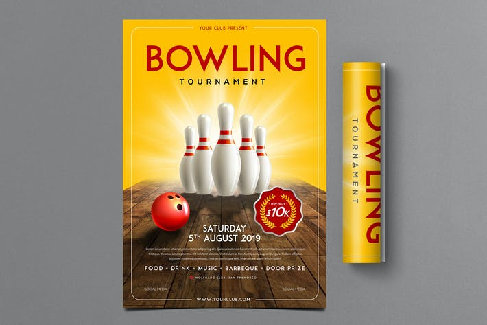 Thumbnail for Bowling Tournament Flyer