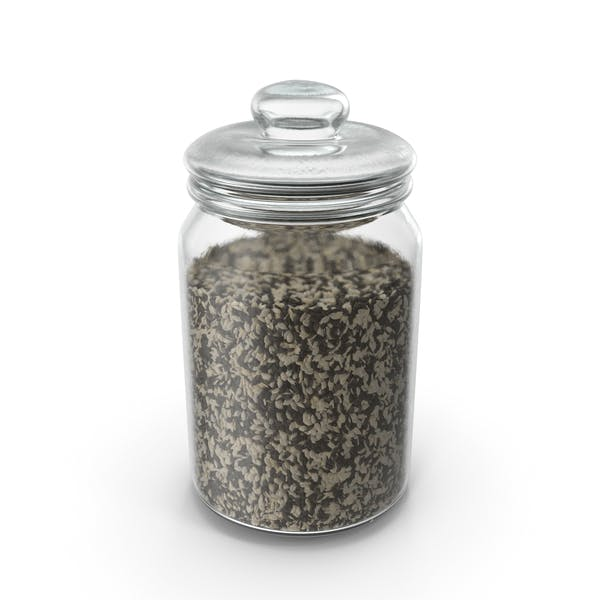 Jar With Mixed Sesame Seeds
