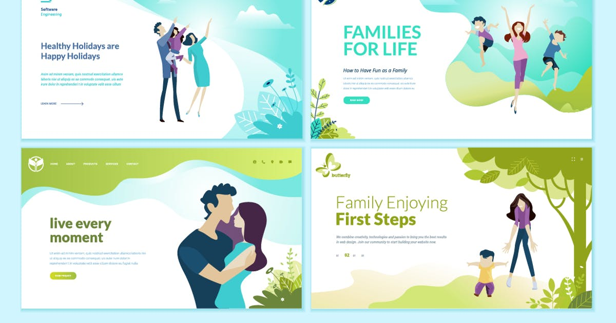 Download Set of Medical Web Page Design Templates by PureSolution