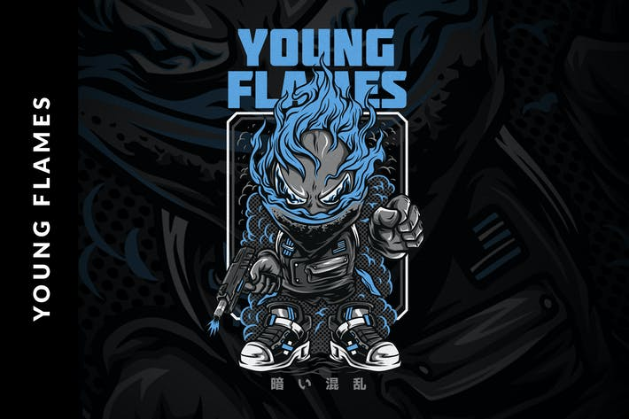 Thumbnail for Young Flames T-Shirt Design
