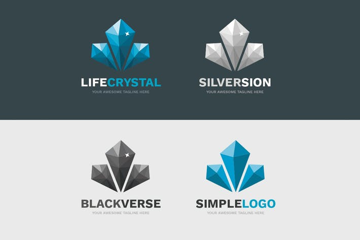 Cover Image For LifeCrystal Logo Template