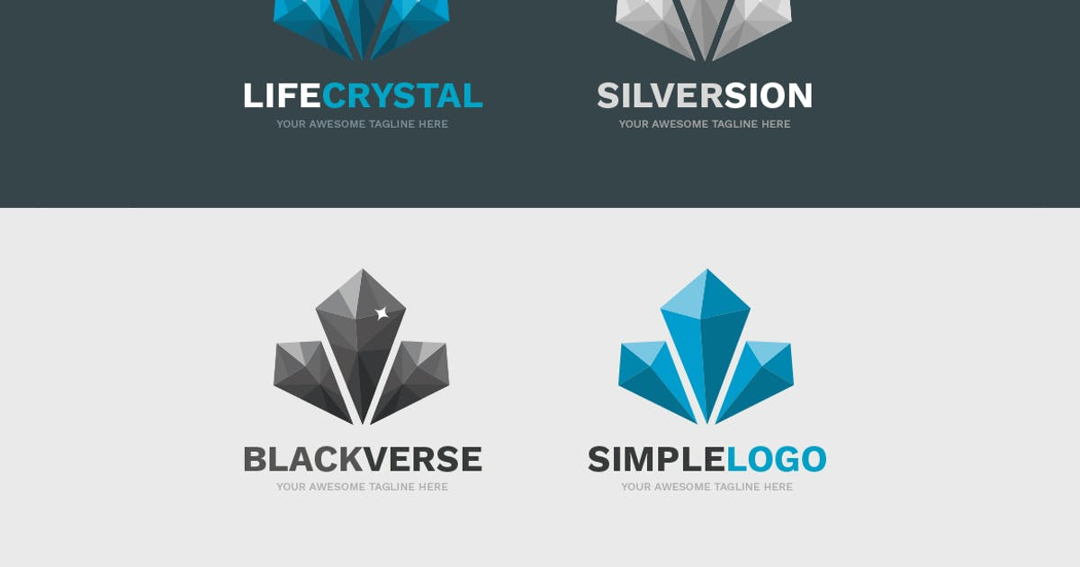 Download LifeCrystal Logo Template by Odin_Design