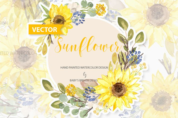 Thumbnail for Sunflower design Vector