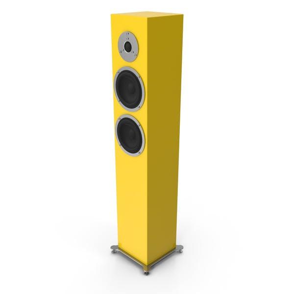 Yellow Floor Speaker