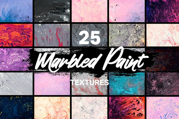 Thumbnail for 25 Real Marbled Paint Textures
