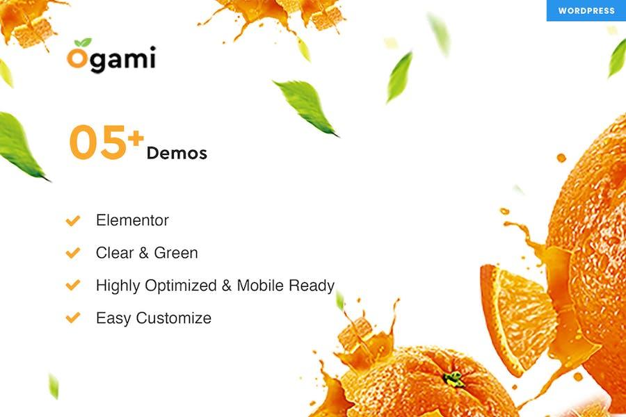 Ogami - Organic Store & Panadería WordPress Tema