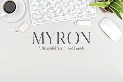 Myron Fuentes serif Family Pack