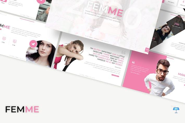 Thumbnail for Femme - Keynote Template