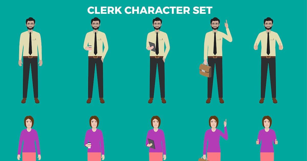 Download Clerk Character Set – Illustrations by designesto
