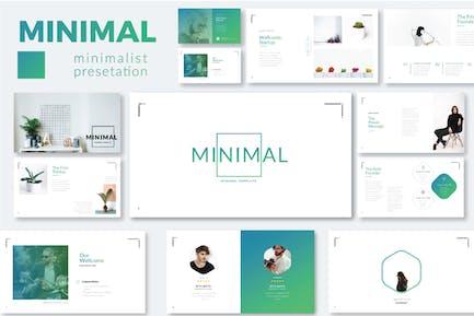 Минимальный минималистский Шаблон Powerpoint