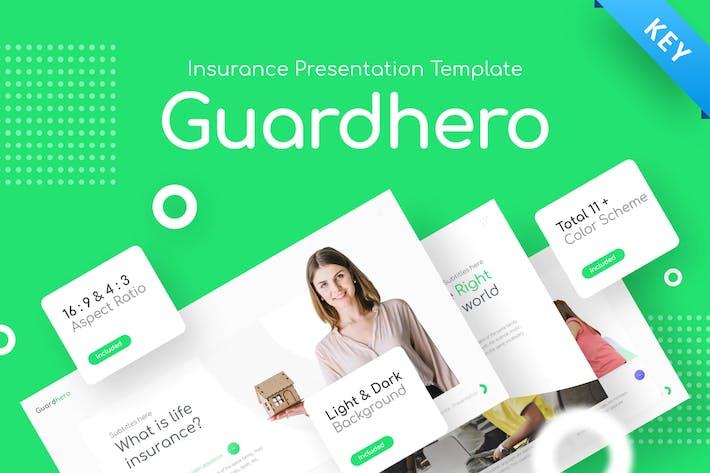 Thumbnail for Guardhero Insurance Keynote Template