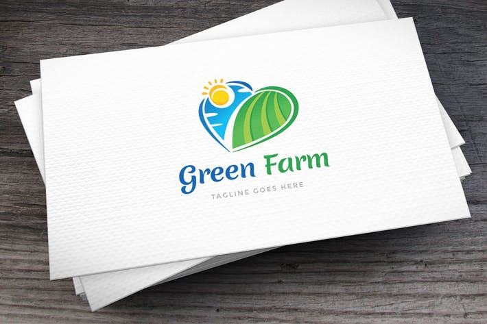 Cover Image For Green Farm Logo Template