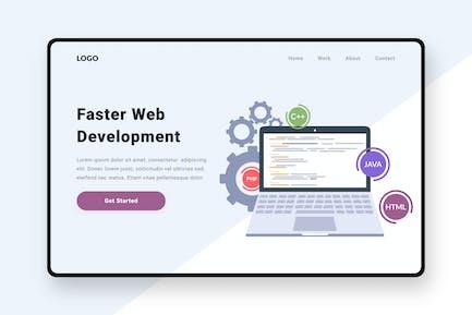 Illustration du développement Web