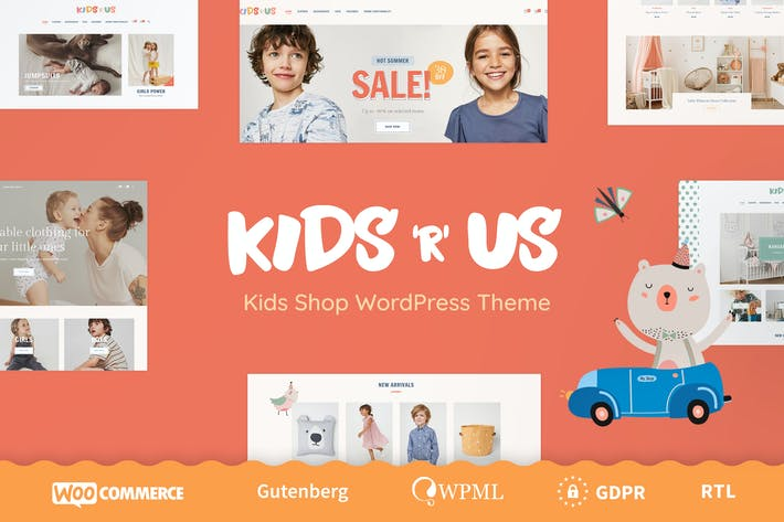 Cover Image For Kids R Us - Toy Store and Kids Clothes Shop Theme