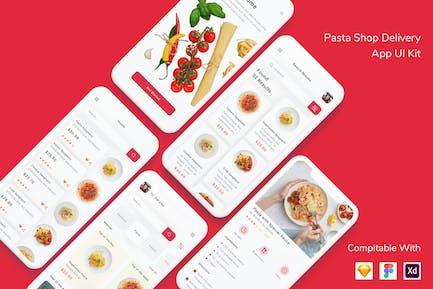 Kit d'interface utilisateur de Appli Pasta Shop