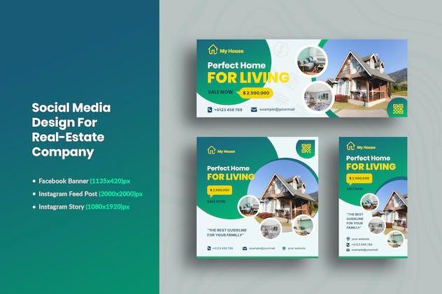 Social Media Design Kit For Real-Estate Company
