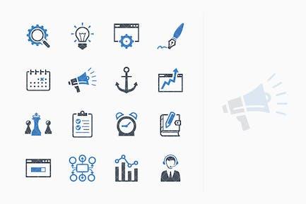 SEO & Internet Marketing Íconos Kit 5 - Blue Series