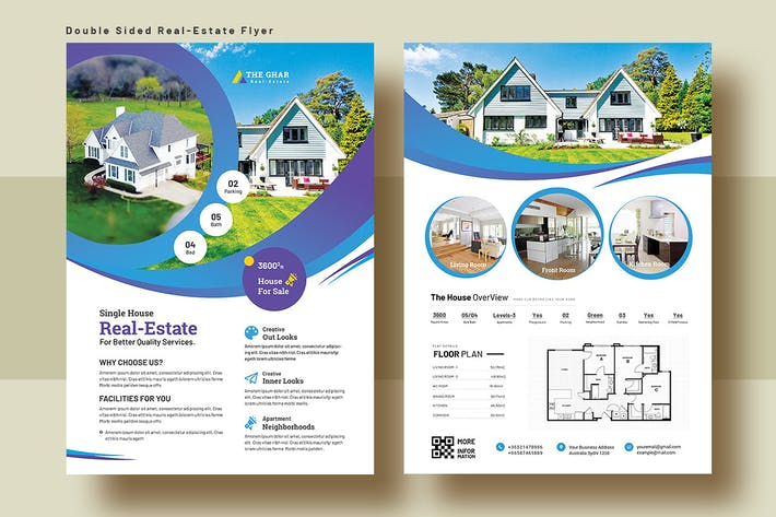 Thumbnail for Double Sided Real Estate Flyer Template V-6
